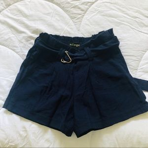 🥂Like an angel - Navy Blue shorts with belt